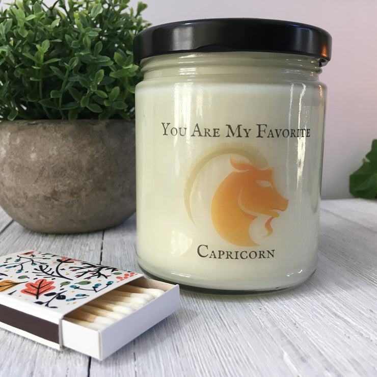 Capricorn Gift | All-Natural Soy Candle | Mother's Day | December January Birthday Present | Zodiac Gift | Astrological | Personalized
