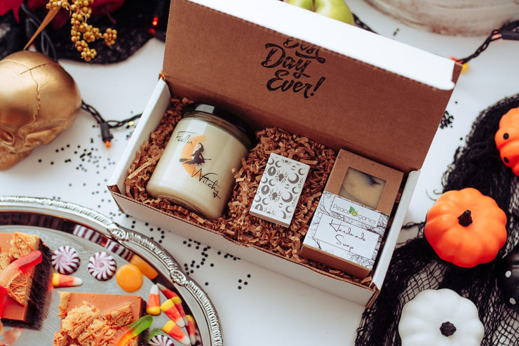 Feeling Witchy 9oz soy candle and cold processed soap gift set