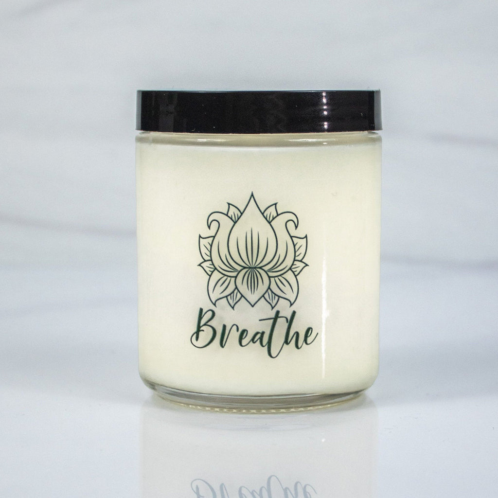 Breathe Candle | Mindfulness Gift | Relaxing Candle | All Natural Candle | Soy Candle | Vegan Candle | Living Room Decor | Meditation Candle