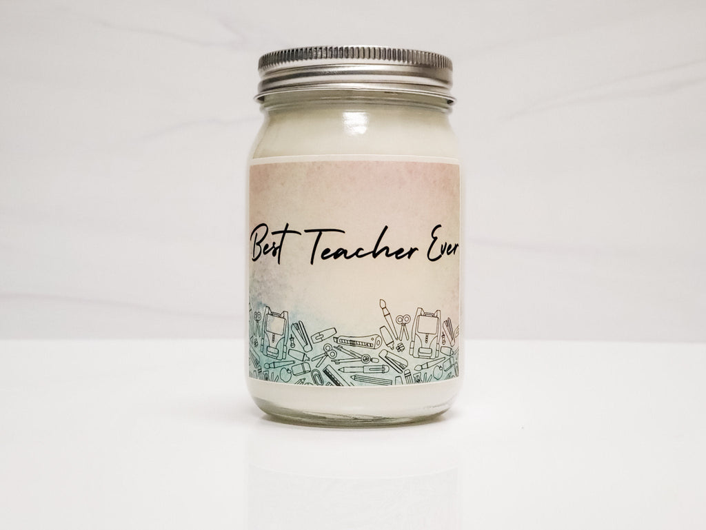 Best Teacher Ever Candle Gift Box - 16oz Candle & Room Spray