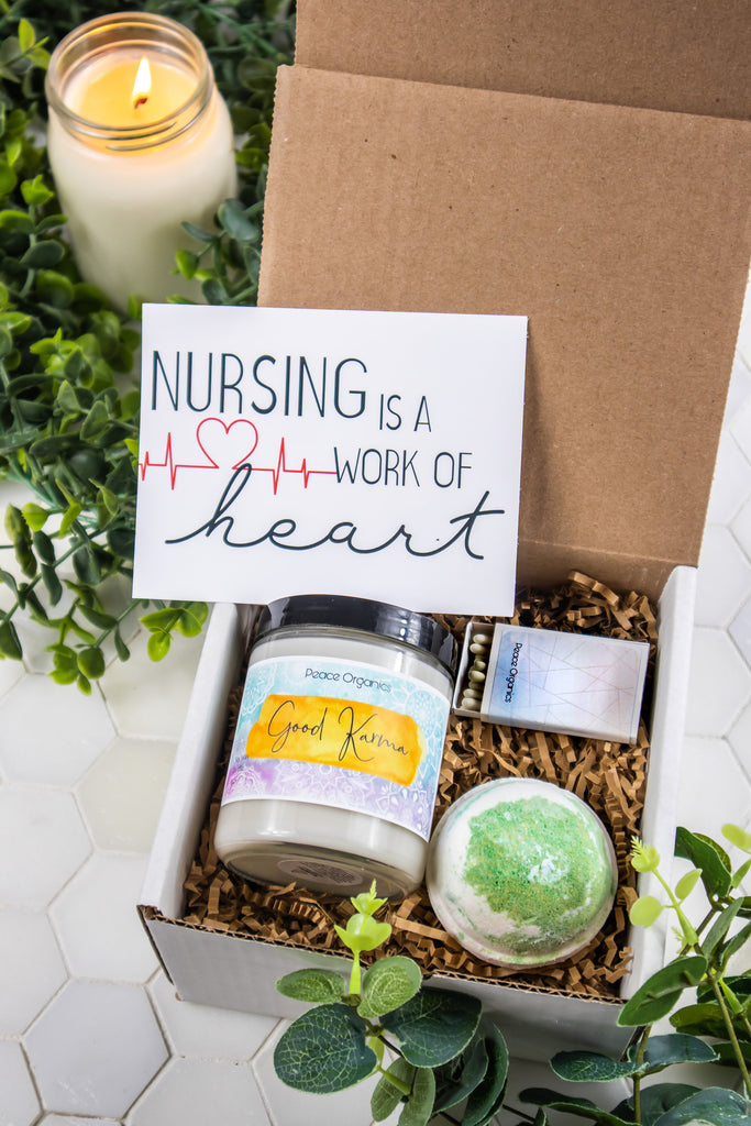 Nursing Is A Work Of Heart Good Karma Mini Spa Gift Box
