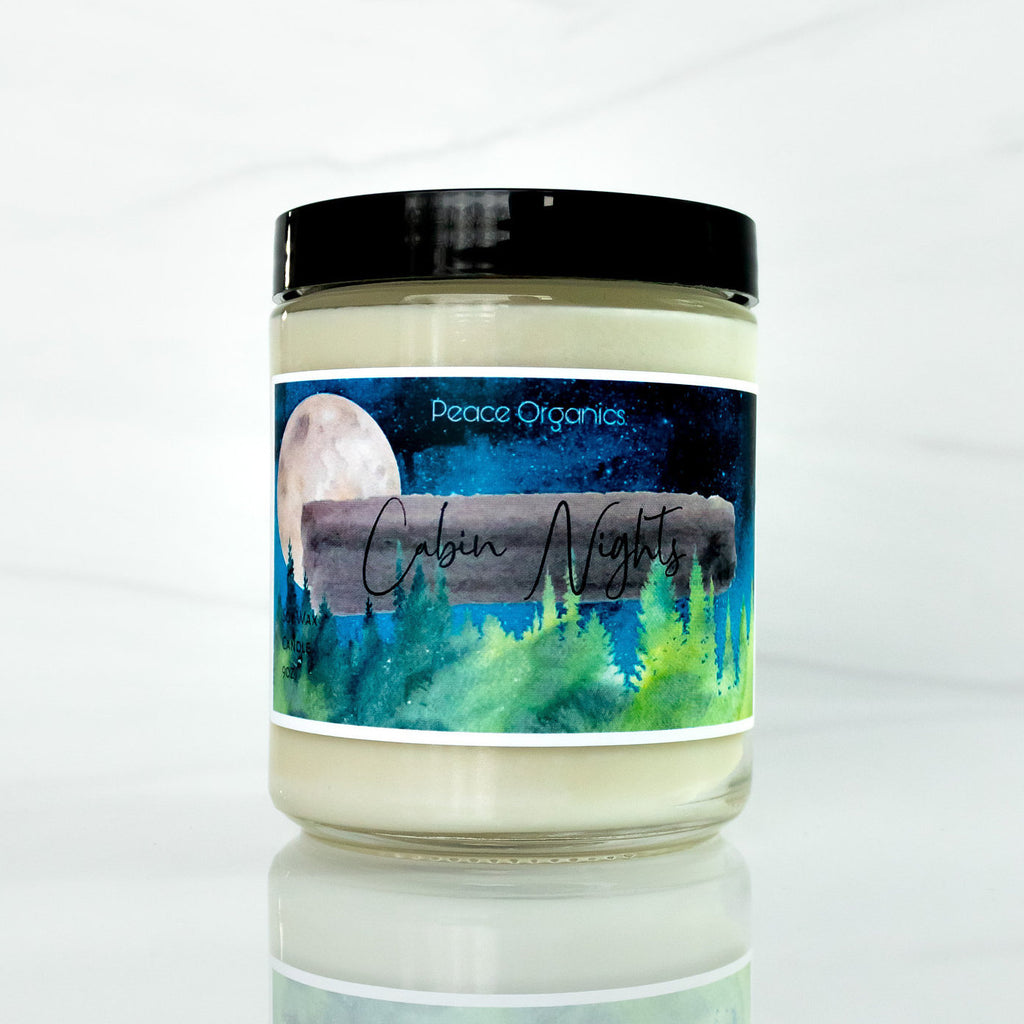 Cabin Nights -  Natural Soy Candle - Fall Scented