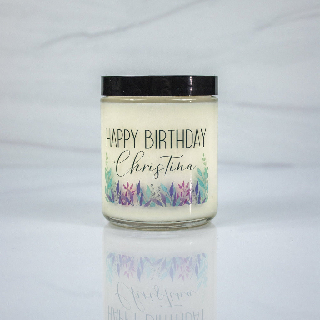 Happy Birthday Candle With Name - Mini Spa Box