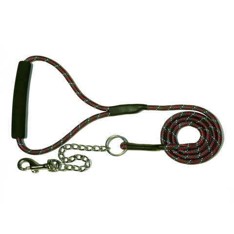 Bali the Dog Reflective Dog leash in mixed colors, red green dog leash with reflective details