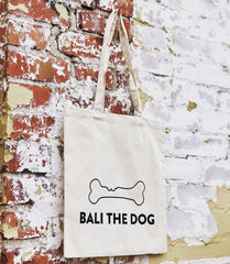 Bali the Dog eco friendly tote canvas bag, ecological cotton, ympäristöystävällinen canvas puuvilla kassi Balithedog