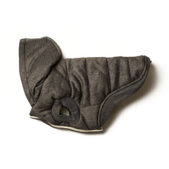 Bali the Dog winter jacket in gray, warm dog jacket with soft fleece lining and hoodie
