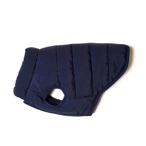 Bali the Dog Classic Winter jacket Navy, dog jacket with soft fleece lining