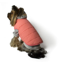 Bali the Dog Classic Winter jacket Peach, dog jacket with soft fleece lining