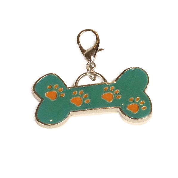 Bone Shaped Dog Pendant Green