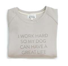 Bali the Dog Dog Mum Sweatshirt in light light grey from balithedog