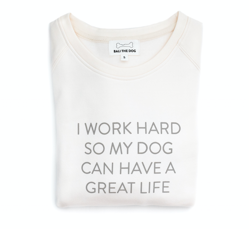 Bali the Dog Dog Mum Sweatshirt in vanilla white from balithedog