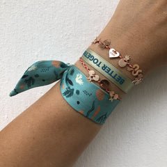 Bali the Dog Sorbet island Better Together satin bracelet. Lucky message bracelet. Ihana Better Together satiini koru balithedog, täydellinen lahja.