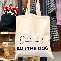 Bali the Dog eco friendly tote canvas bag, ecological cotton, ympäristöystävällinen puuvilla canvas kassi laukku Balithedog