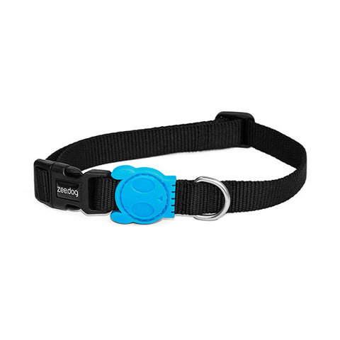 Bali the Dog ZeeDog Monoby Dog Collar, cool black and turkoise  pattern and nice design details. Perfect for your dog!