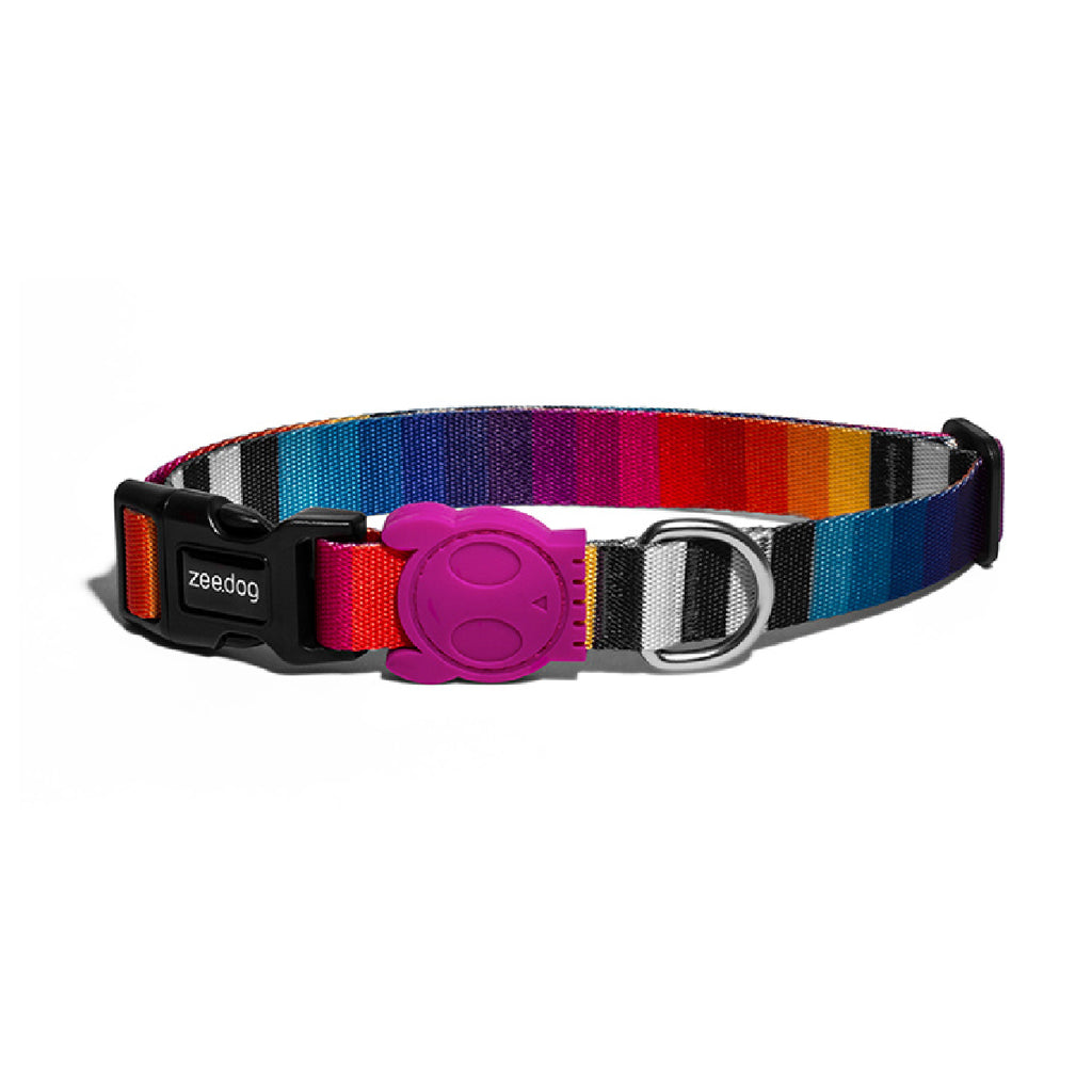 Zeedog Prisma multicolor Dog Collar from Bali the Dog, coolest dog gear from BalitheDog