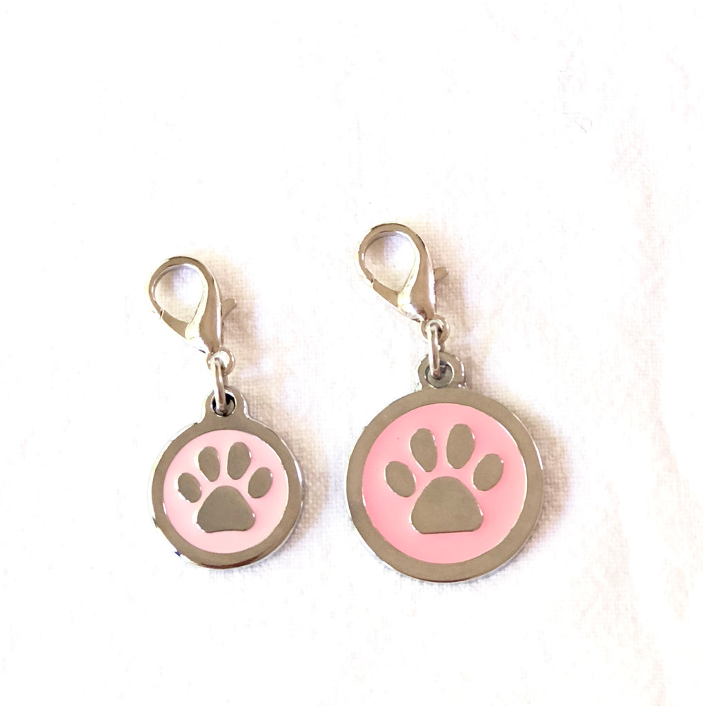 dog paw pendant from Bali the Dog, balithedog pink paw charm