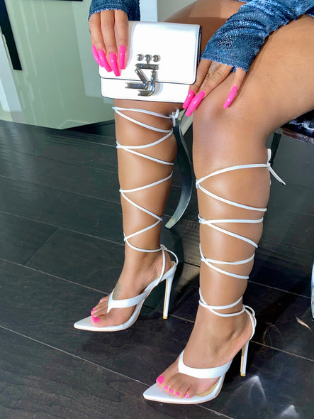 Tied up sandal