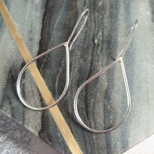 Handmade teardrop silver earrings
