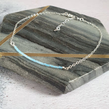 Delicate silver ankle chain