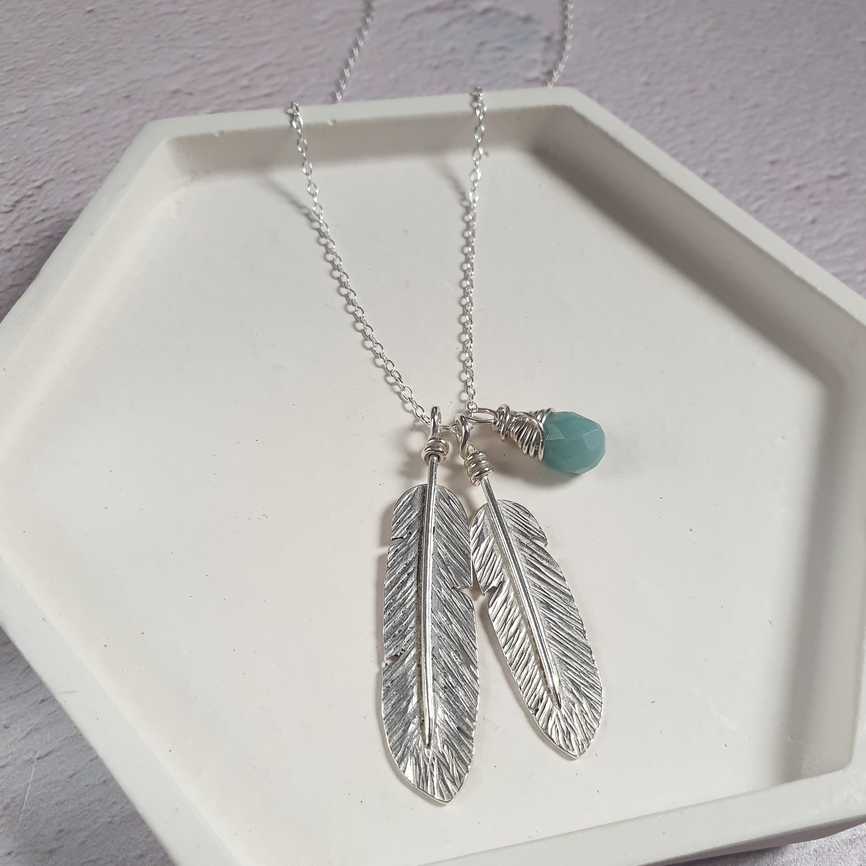 Feathers Silver Necklace