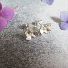 Hydrangea Silver Stud Earrings