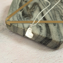 Hammered Heart Silver Necklace