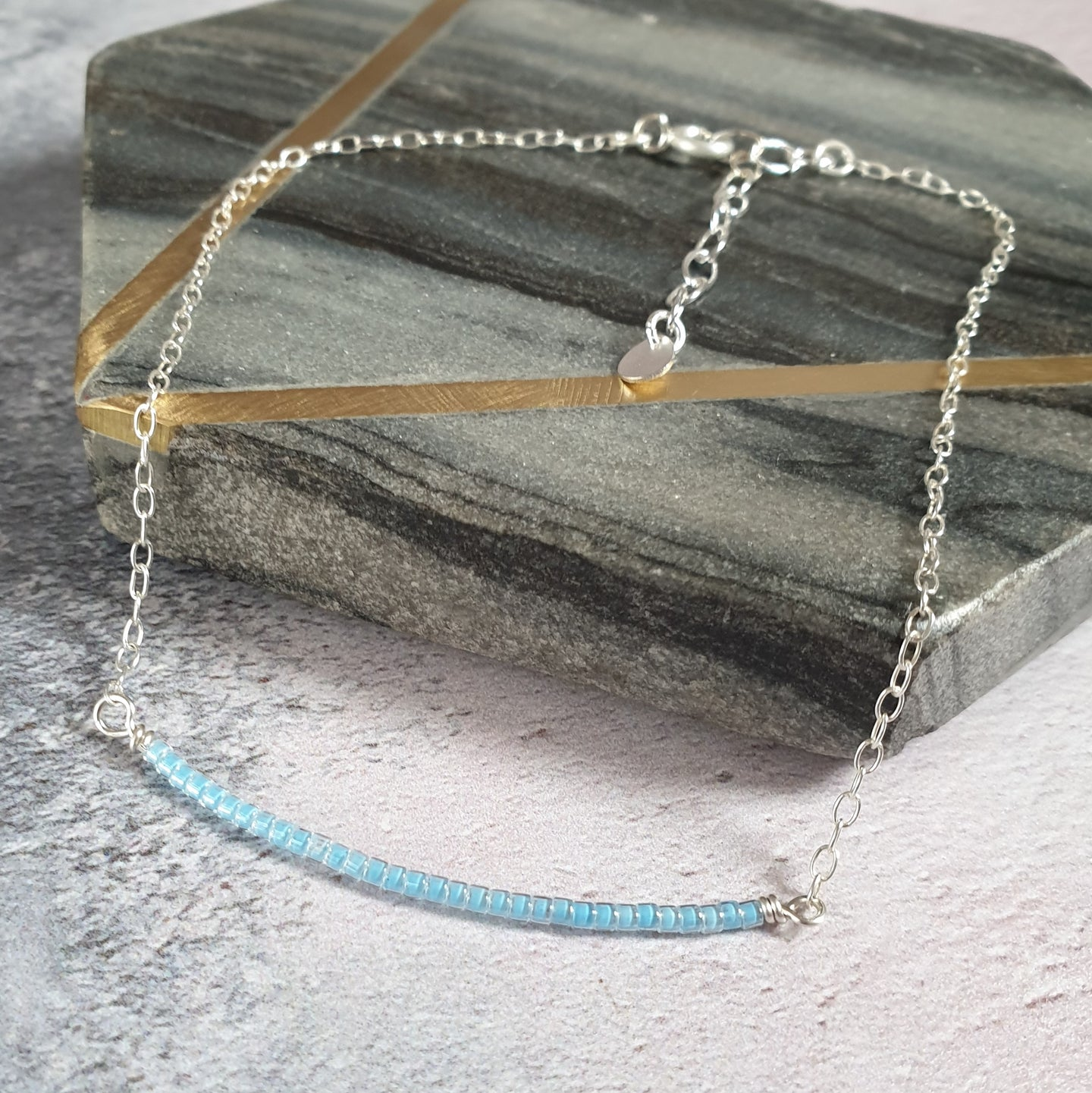 Dainty silver anklet
