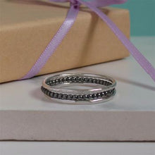 Silver stacking rings set of three
