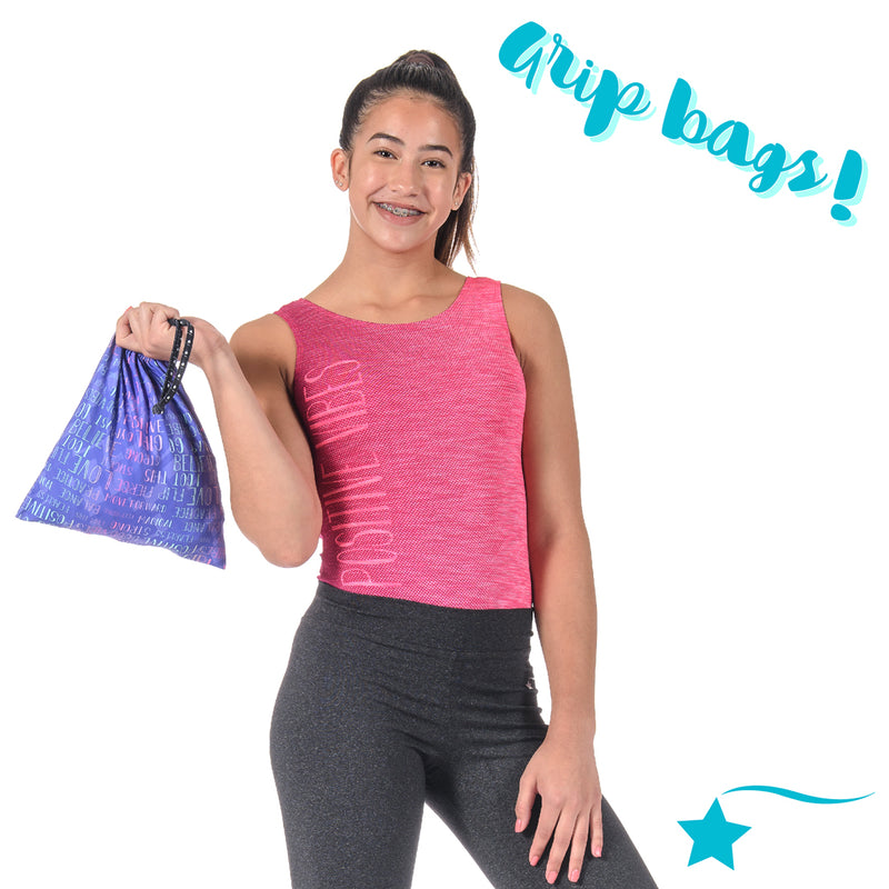 Gymnast Accessories: Grip Bags, Doll Leos, and Scrunchies!