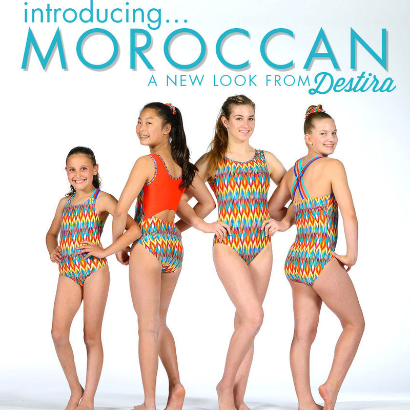 Colorful, New Summer Leotards: Moroccan!