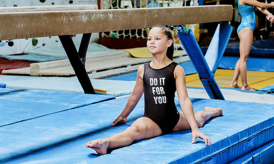 gymnast leotard sporty  black