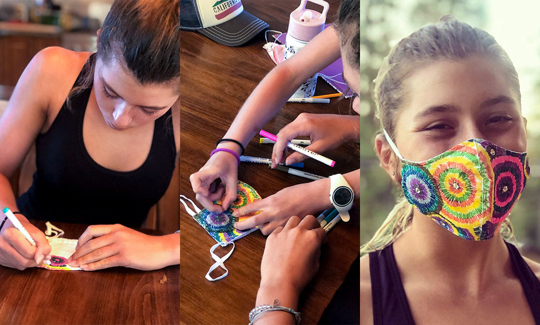 design your own face mask with markers kids teens