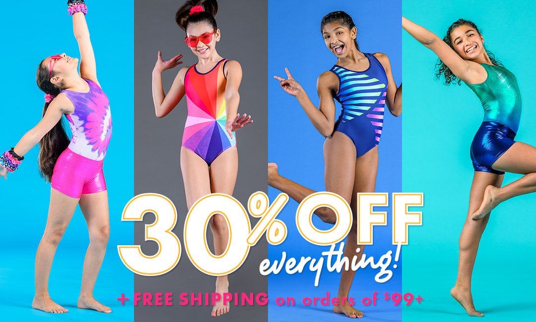 30% off gymnastics leotards black friday sale