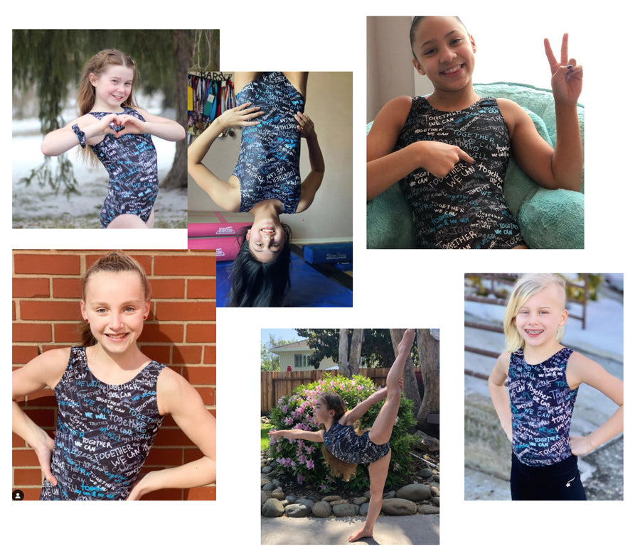 together we can gymnastics fundraiser leotards