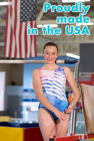 made in the USA flag leotard