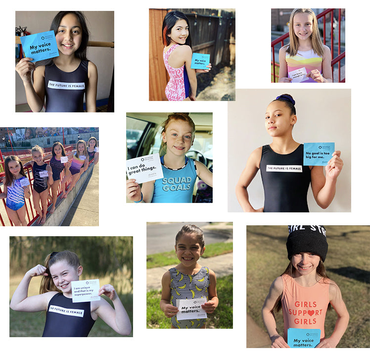 gymnasts share positive self affirmations female empowerment