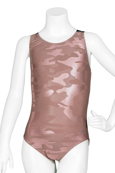 Rose Gold Camo Y Back Leotard