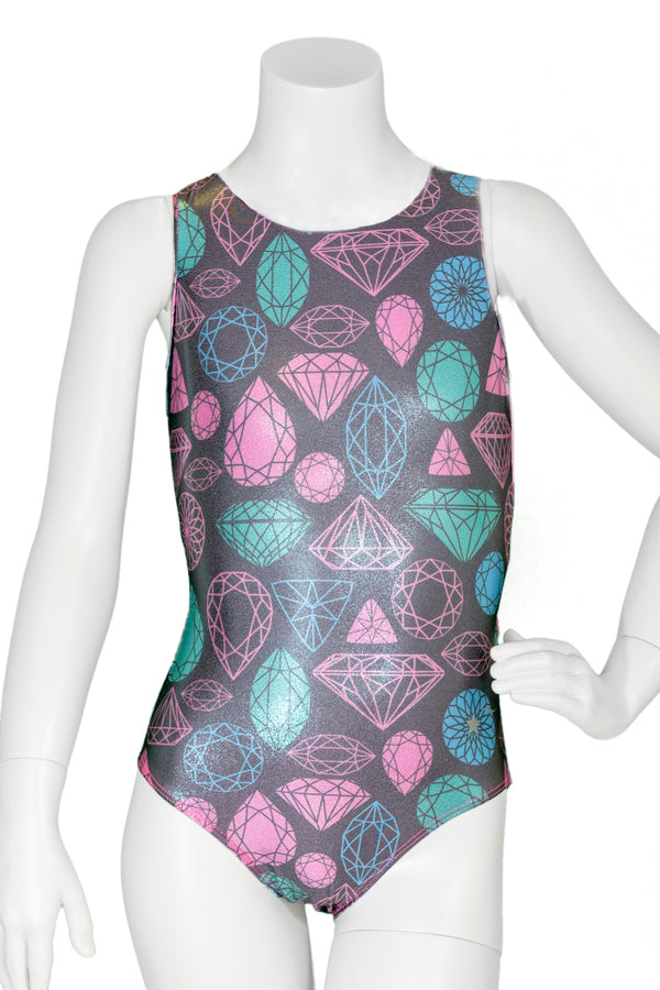 Icy Arctic Jewels Woven Back Leotard