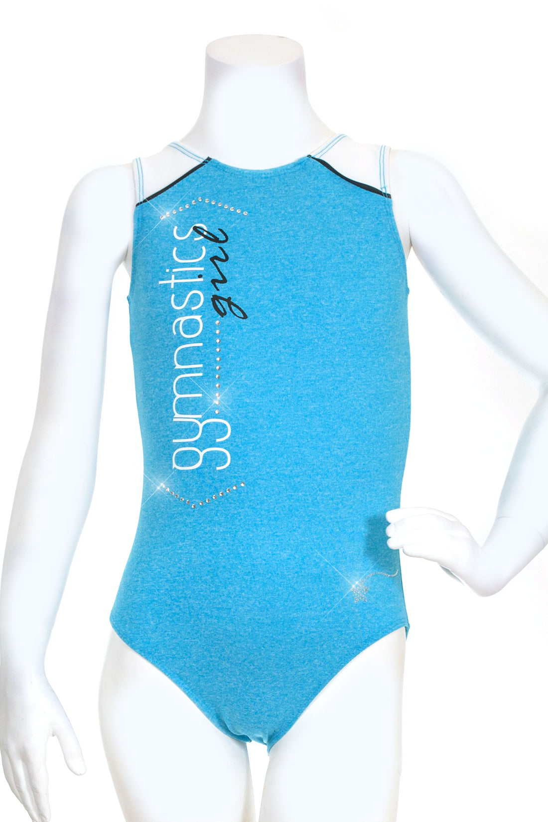 Heather Turquoise Gymnastics Girl Leotard