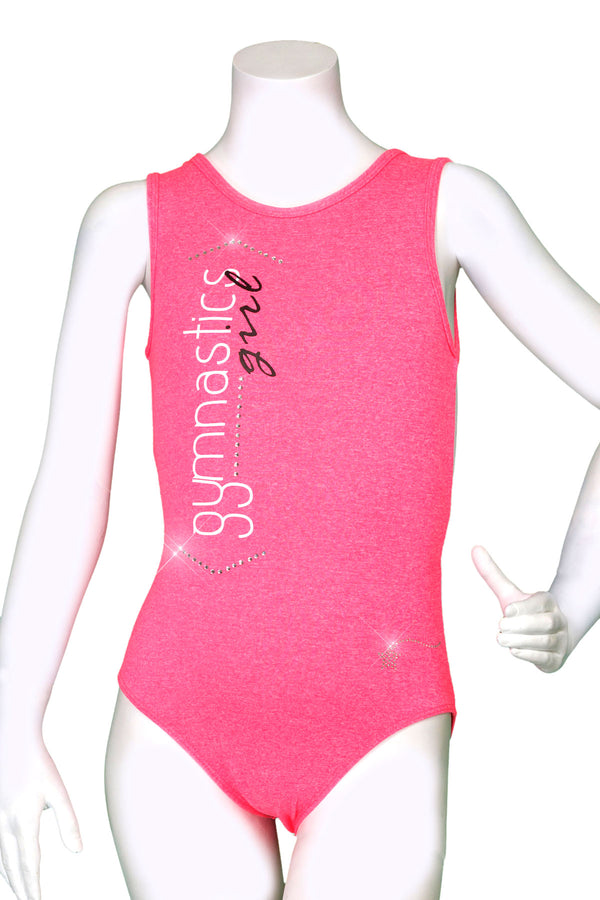 Heather Coral Gymnastics Girl Leotard
