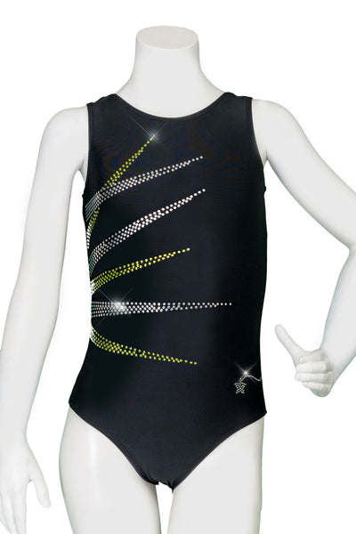 Black Energy Burst Perfect Tank Leotard