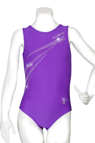 Purple Energy Burst Perfect Tank Leotard