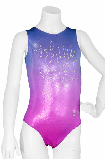 Pink Ombre Shine Bright Crystals Leotard