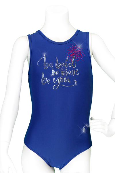 Be Bold, Be You Crystals Sport Racer Back Leotard
