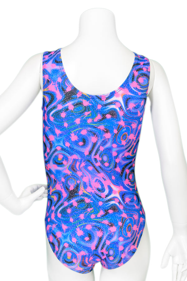 Paint Splat Drop Shoulder Leotard