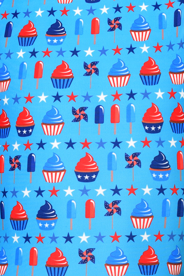 USA Spirit Ice Cream & Cupcakes Unitard