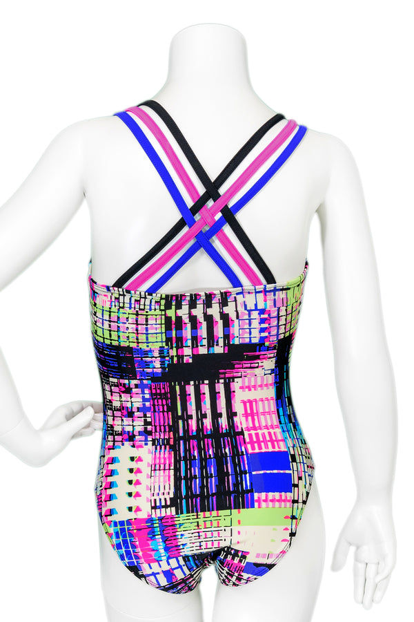Circuitry Woven Back Leotard