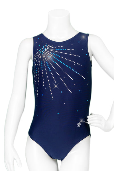 Sunburst Navy Crystals Leotard