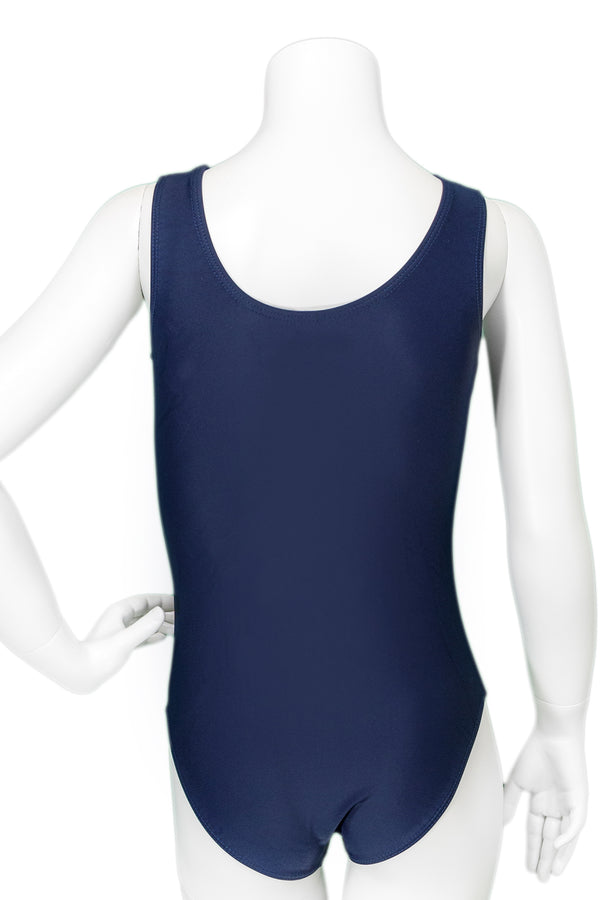 Sunburst Navy Sequin Leotard