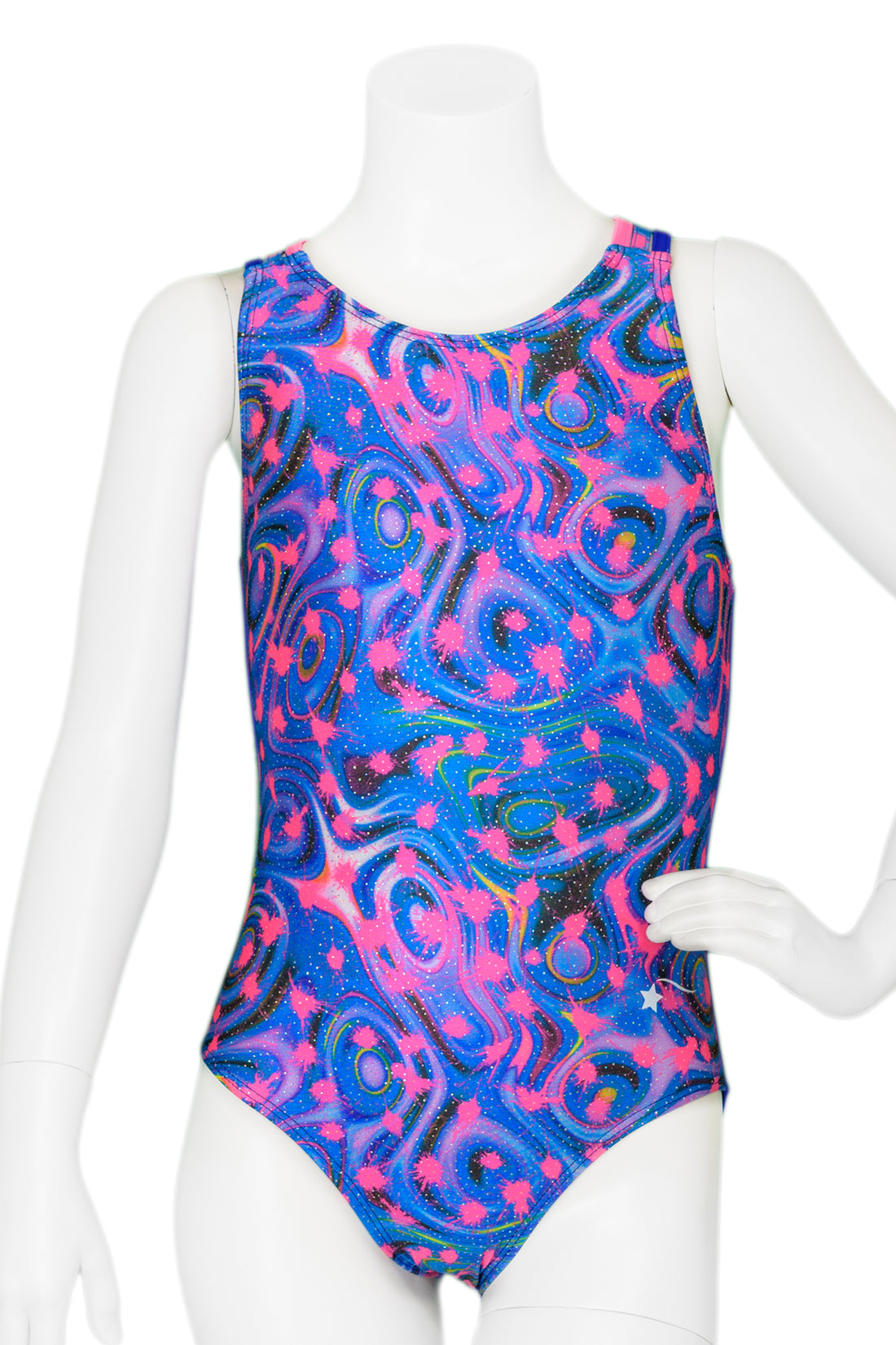 Paint Splat Woven Back Leotard